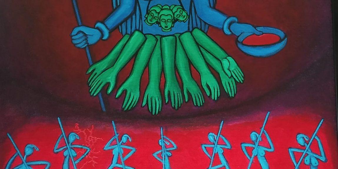 Kali - A painting by Chitrakaran Murali